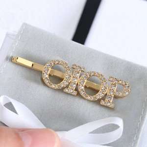 Fashion letter rhinestone headband for women Party lovers gift wedding bridal hair accessories jewelry With BOX