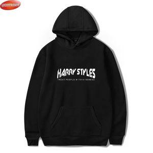 LuckyFridayf Harry Stilleri Nezaket Baskı Kadınlar / Erkekler Moda Streetwear Kapşonlu Kazak Rahat Hoodies Y200706