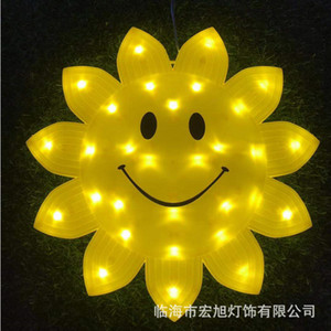 LED Light of Smiling Face Snowflake Modeling Lamp LED Holiday Brightening Christmas Decoration Light Waterproof Starry Light String