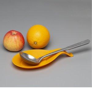 1 pcs 9.5 * 19.5cm Material de cozinha Sile Colher Colher Spot Spoon Pad Prateleira Suporte Spatula Euro Sqcdig