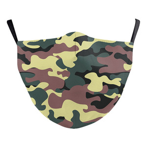 in print 3D camouflage digital Designer face mask with filter cotton reusable face mask Dust Warm Windproof