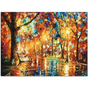 Léonid Afremov Burst de l'automne Home Decor Pablé à la main HD Imprimé Huile Peinture sur toile Mur Art Toile Photos 7668