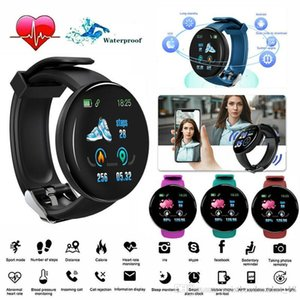 D18 Smart Watch Men Women Blood Pressure Round Smart wristband Waterproof Sport Smart Watch Fitness Tracker For Phone Android Ios