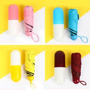 Sunscreen Umbrella Mini Ultraviolet Proof Black Glue Pocket Fashion Umbrellas Super Light And Small 13 5yq M2