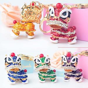 Креативный подарок Китайский стиль льва танцы сплава ключ кольцо мода девушка сумка подвесной автомобиль подвесной 7 цветов