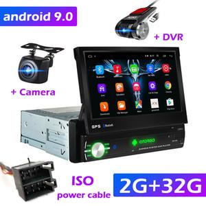 "1Din Car Radio GPS Navigation 7 ""HD Screen retrattile Android 9.0 Multimedia Player Universale Camera Audio Video Player No DVD"