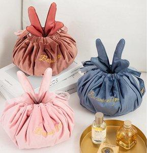 Bag andler paresseux sacs de maquillage Femme Portable Cordon de stockage Sac de rangement de voyage Articles ménagers Organisation GWD4224