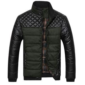 Marka erkek Ceketler ve Mont 4XL PU Patchwork Tasarımcı Ceketler Erkekler Giyim Kış Moda Erkek Giyim