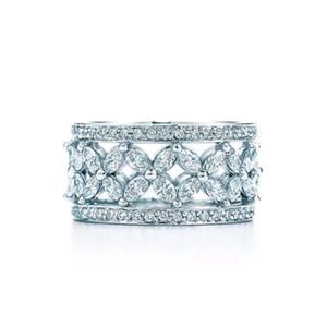 Victoria Wick Top Selling Choucong Nouveaux bijoux de luxe 925 Sterling Silver Marquise 5A CZ Diamond Party Bureau Bande de mariage 126 O2