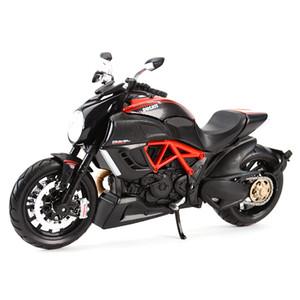 Maisto 1:12 Ducati Diabel Carbil Red Die Cast المركبات النادرة الهوايات النارية نموذج اللعب LJ200930