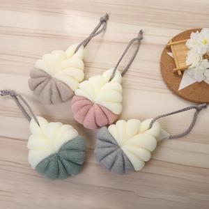 Loobah Banyo Topu Örgü Sünger Taşınabilir Süt Duş Aksesuarları Banyo Malzemeleri PE Banyo Çiçek Süper Yumuşak Vücut Peelying Araçları GWD2933