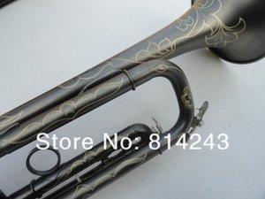 Nuovo arrivo dello strumento musicale unico Grind arenacei nero nichelato Superficie squisita intaglia i modelli di alta qualità Bb Trumpet