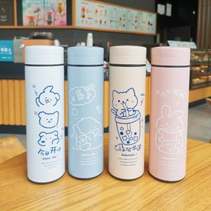 Manufacturers Direct Selling Dry Ten Hair Fashion Insulated Cup INS Stainless Steel Water Cup Sister Portable Thermal Insulation