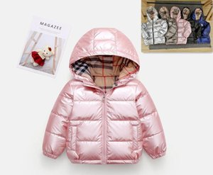 2020 Autumn Winter Coat Girl Shiny Down Jaket Hooded Children Boy Winter Coat Kids Boys Girls Outerwear Parka Tops