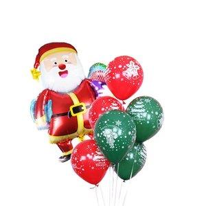 زينة عيد الميلاد للمنزل ميلاد سعيد شجرة عيد الميلاد بالونات راية صور بوث الدعائم Globos للمنزل الحلي السنة الجديدة ديكو