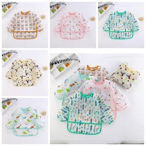 Baby Bibs Cartoon Print Burp Clothes Feeding Bib Anti-Dirty Waterproof Saliva Towel Cute Detachable Infant Food Bib Pinafores OWC2655