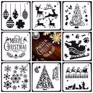 Christmas Drawing Painting Stencils Scale Template Sets Different Christmas Style Stencils for Painting on Wood Craft Cards Making Human new