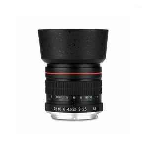 85mm F1.8-F22 Anamorphic Manuel Odak Portre Lens Kamera Lens 550D 600D 700D 5D 6D 7D 60D DSLR Kameralar1