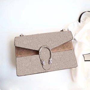 2020 neue Art und Weise der Qualitätsdamen dionysuss Mini-Kette Leinwand echtes Leder Tiger-Kopf-Verschlussklappe Handtasche Schulter Umhängetasche Taschen