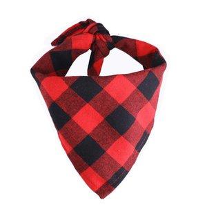 Dog Bandana Plaid Single Layer Pet Scarf Triangle Bibs Kerchief Pet Accessories Bibs for Small Medium Large Dogs Xmas Gifts HWE4323