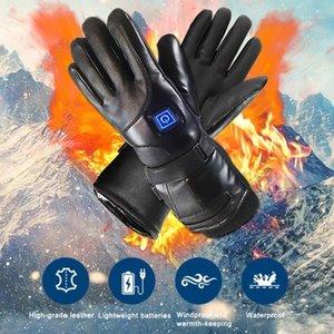 Unisex Isıtmalı Eldiven Şarj Edilebilir Elektrikli Sıcak Pil Isı Eldiven Kış Spor Motosiklet Bisiklet Bisiklet Tırmanma Skiing için