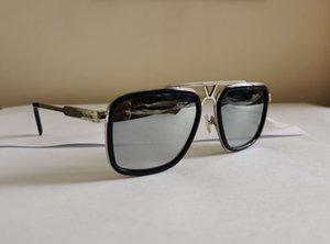 الرجال مربع النظارات الشمسية الفضة إطار معدني فضة عدسة نظارات ظلال uv400 نظارات أعلى جودة مع مربع