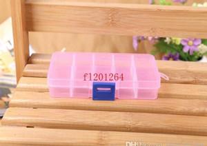 FedEx DHL Envío gratuito Ajustable 10 compartimento Caja de almacenamiento transparente de plástico para la joyería Herramienta de pendiente CO WMTFoz Dayupshop