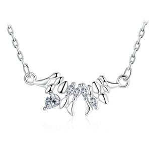 Hight Quality Fashion Shiny Crystal 925 Sterling Silver Necklaces Short Chain for Women Jewelry Gift Wholesale Drop Shipping