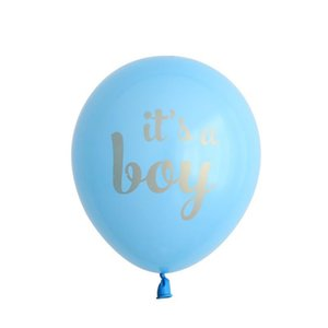 10pcs lot Baby Shower Children Birthday Balloons Its A Boy It's A Girl Oh Baby Printed Babyshower Decorations Part sqcYCP