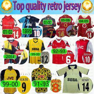04 05 06 Arsen Retro Fussball Jersey 82 88 89 Henry Vintage Pires Soccer Hemd 1994 1995 1997 2000 20002 Bergkamp Football Uniform