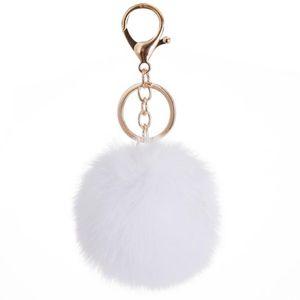37 Colors 8cm Imitate Rabbit Fur Ball Keychain Pom Pom Car Keychain Handbag Keychain Fluffy Faux Rabbit Fur Key Ring KKF2311