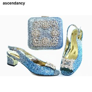 New Italian Shoes with Matching Bags Latest Design Wholesale 2020 Wedding Shoes and Matching High Quality African Wedding