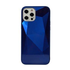 Full Body 3D Diamond Texture Mirror Hard Shell Case for Iphone 12 12 Pro TPU Edge Bumper Acrylic Back Cover Hard Shell