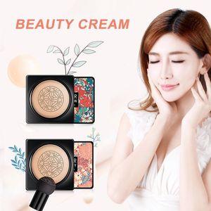 BB воздушной подушке Фонд грибовидной головкой CC Cream Concealer Отбеливание Увлажняющий макияж Водонепроницаемый Brighten Face Base Tone 3