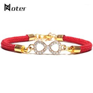 Charm Bracelets Noter TrendyRope Braided Bracelet For Men Women Lucky Red Braslet Luxury Mirco Crystal Braclet Lovers Couple Brazalete Gift1