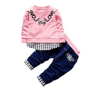 Automne Bébé garçon Vêtements Set Enfants Vêtements Ensembles Produits Vêtements Enfants Vêtements Pour Enfants Baby Garçons Filles T-shirts + pantalons 2PCS Suivi 201127