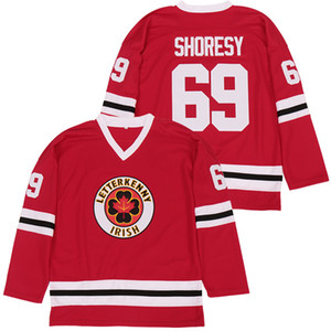 Moive Ice Hockey 69 Shores TV Series Irish Letterkenny Jersey College Breathable Embroidery And Stitched Team Home Red Color High Quality