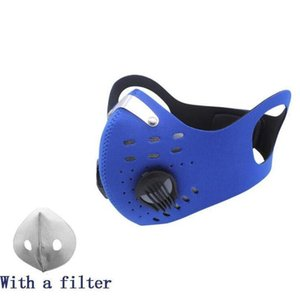 Маска для лица велосипедные маски для пылезащитный ветрозащитный противотуманный активированный углеродный дыхательный клапан маски многоразовые маска для езды с фильтрами EWE2024