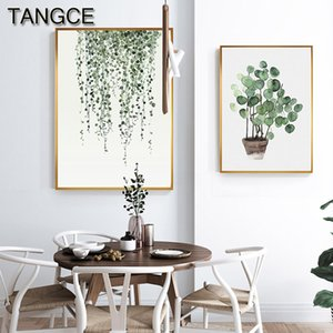 Nordic Green Leaf Cactus Canvas Wall Art Painting HD Plant Print and Poster For Living Room Warm Tableau Decoration Murale Salon