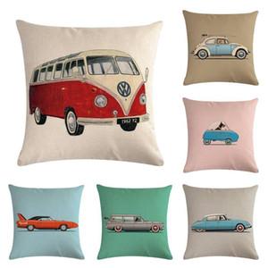 Cartoon Car Cushion Cover Cute Cartoon Car Pillow Case For Sofa Home Textile Seat Decorative Pillowcase coussin