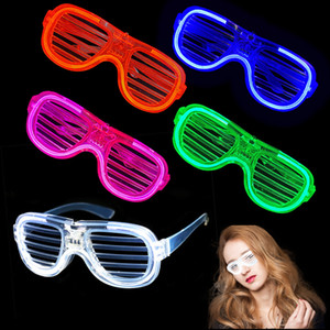 LED-Gläser Leuchtende Blind Brille LED Geburtstagsfeier Dekorationen Weihnachten Halloween Dekoration Bar Party Supplies XD24483