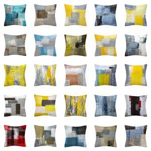 40 Styles Simple Abstract Pillowcase Home Decorations Pillowcase Office Sofa Cushion Cushion Cover Short Plush XD24007