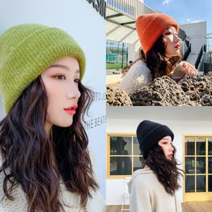 Winter 2020 Wool Blend Scarf 2pcs Set for Women Skullies Beanies Caps Warm Thick Ears Knitted Hat Outdoor Ski Cap CAH5
