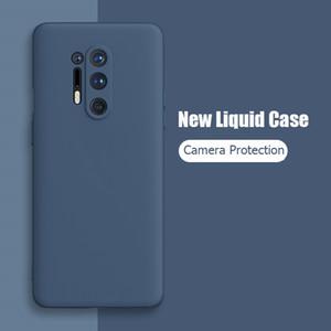 Для OnePlus 8 Pro Case Жидкая силиконовая мягкая матовая Защитная крышка камеры для One Plus 8 Pro OnePlus8 OnePlus 7 Pro телефон дела