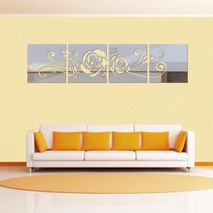 new 3d mirror wall stickers acrylic sticker adesivo de parede home decor modern large flower decoration
