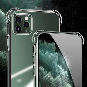 Luxury Transparent Shockproof Case For iPhone 11 Pro X Xr Xs Max 12 Mini Pro Silicone Case 6 6S 7 8 Plus Samsung Note20 S21 S20 Back Cover