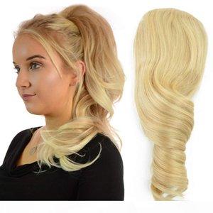 SoltyTring PonyTails Blonde Updo Hair Pein Bun Extension Chignons Pieza de pelo Clip en la extensión de la cola de cola 100 g 120g 140g Free Ship