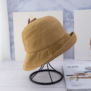 2020 Hot-selling Autumn and Winter Wide Brim Hat Fashion All-match Casual Solid Bucket Hat Fedora Hats Top Quality Hot Sale Bonnet