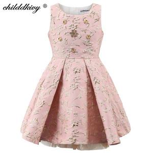 Childdkivy Girls Party Kleid Kinder Prinzessin Kleid Kleidung Ballkleid Sleeveless Kids Abendkleider für Mädchen 3-10 Jahre T200624