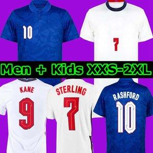 Nouveau 2020 Dele Alli Soccer Jerseys Kane Rashford Sterling Engl et Sturridge Jersey 2021 Adulte Hommes + Kit Kit Chemise de football Vardy Lingard